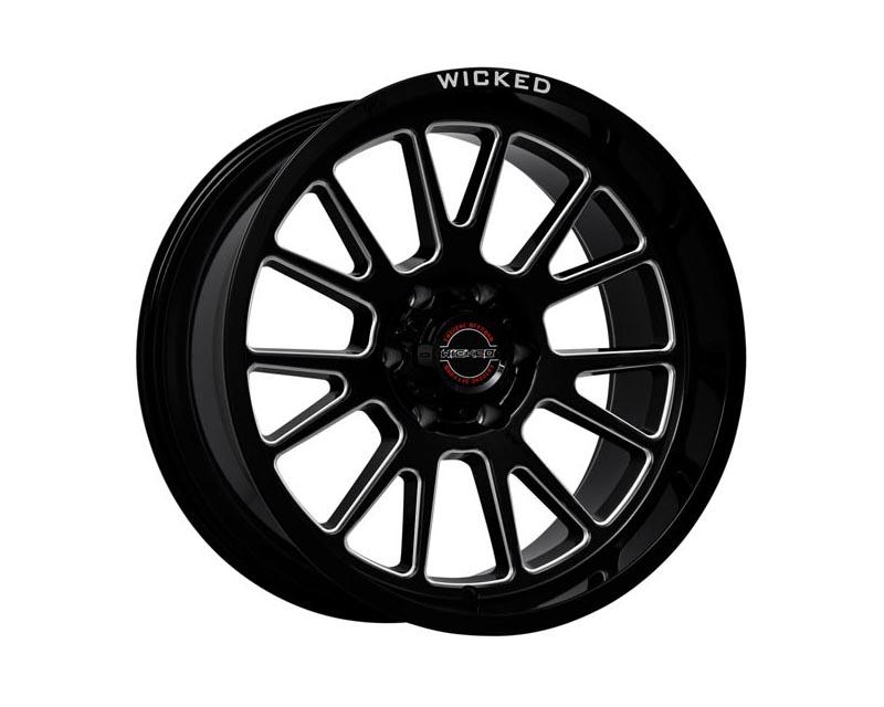 Wicked Off-Road Wheels W907 200 555 -24GBMW W907 Wheel 20x10 5x139.70x24 BKGLBA Gloss Black Milled