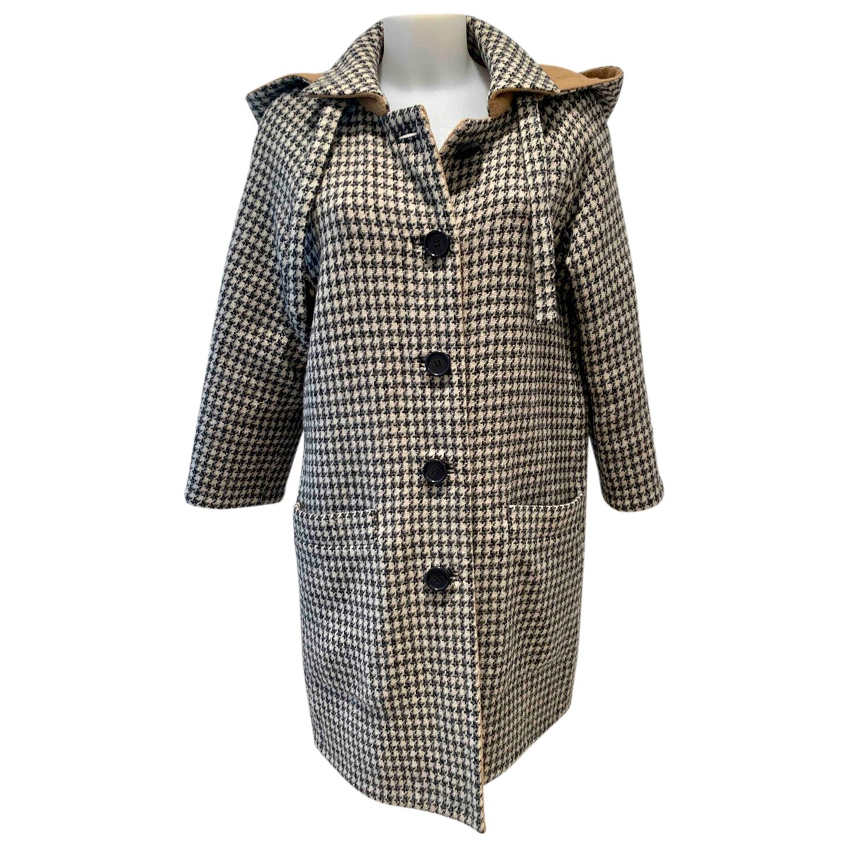 Balenciaga N Beige Wool coat for Women 36 IT