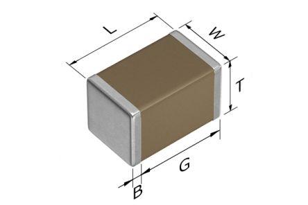 TDK 0805 (2012M) 22nF Multilayer Ceramic Capacitor MLCC 450V dc ±10% SMD C2012X7T2W223K125AE (2000)