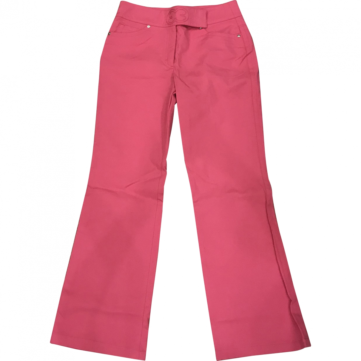 Escada \N Pink Cotton Trousers for Women 40 FR