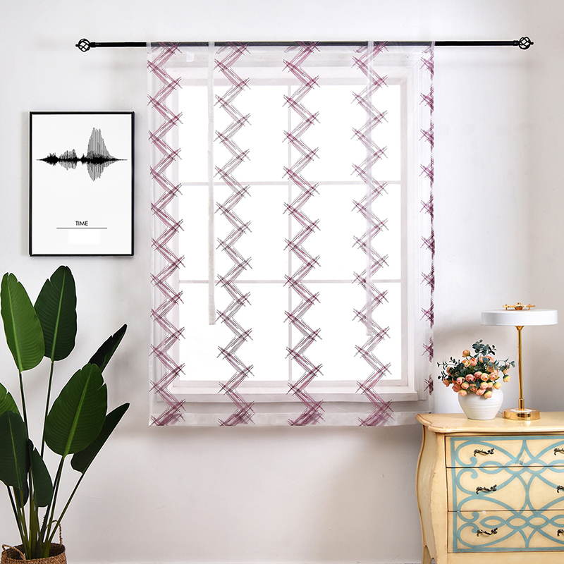 Plain Wave Printed Pattern Design Shade Yellow and Purple