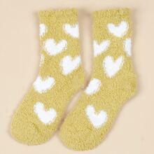 Heart Print Crew Socks