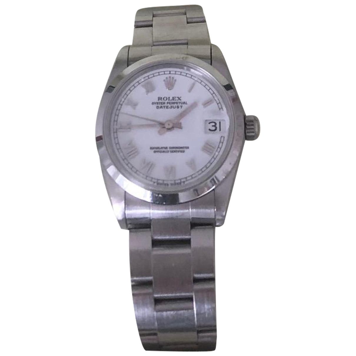Rolex Datejust 31mm Uhr in  Weiss Stahl