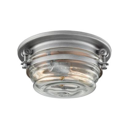 16103/2 Riley 2-Light Flush Mount in Weathered