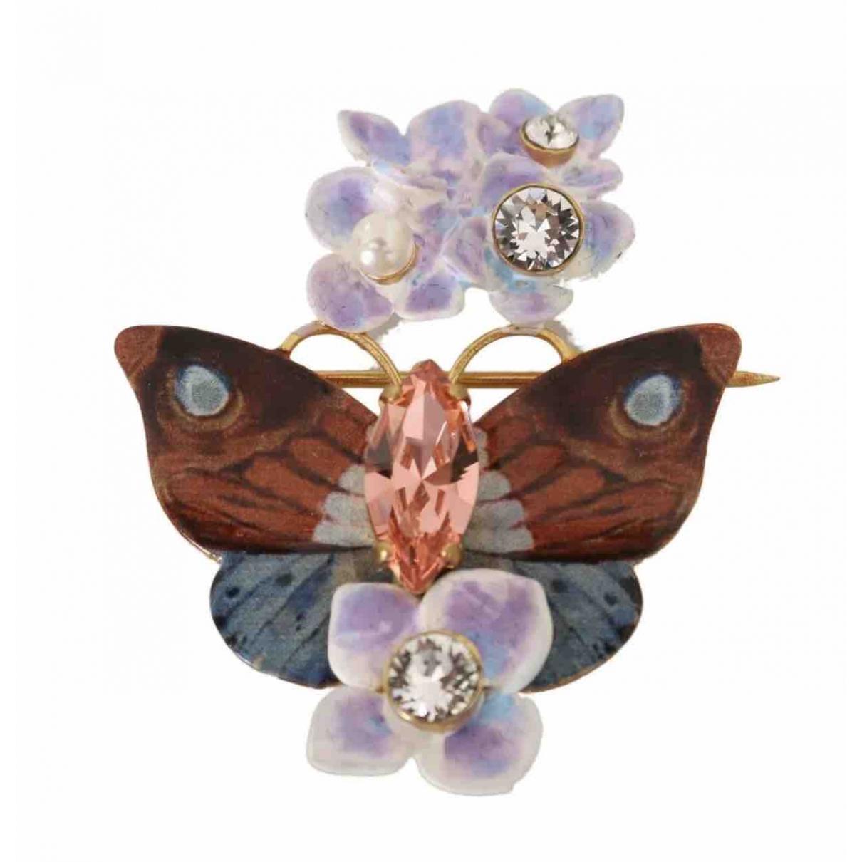 Dolce & Gabbana - Broche   pour femme en cristal - multicolore