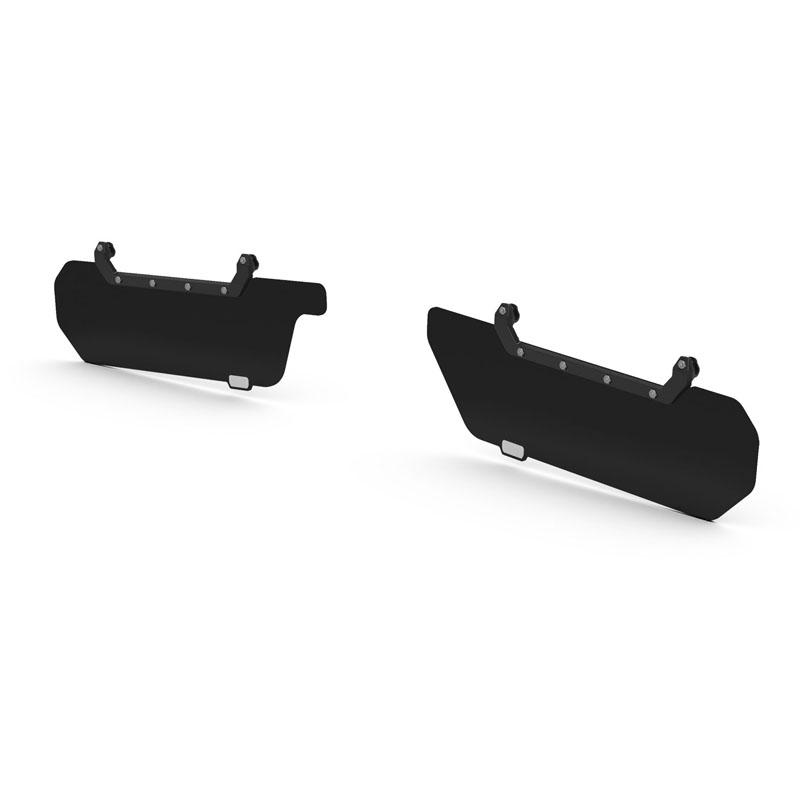 Jeep JK / JKU Axis Secondary Opaque Black Front Visor Kit Pair 07-18 Wrangler JK/JKU TeraFlex 4840060