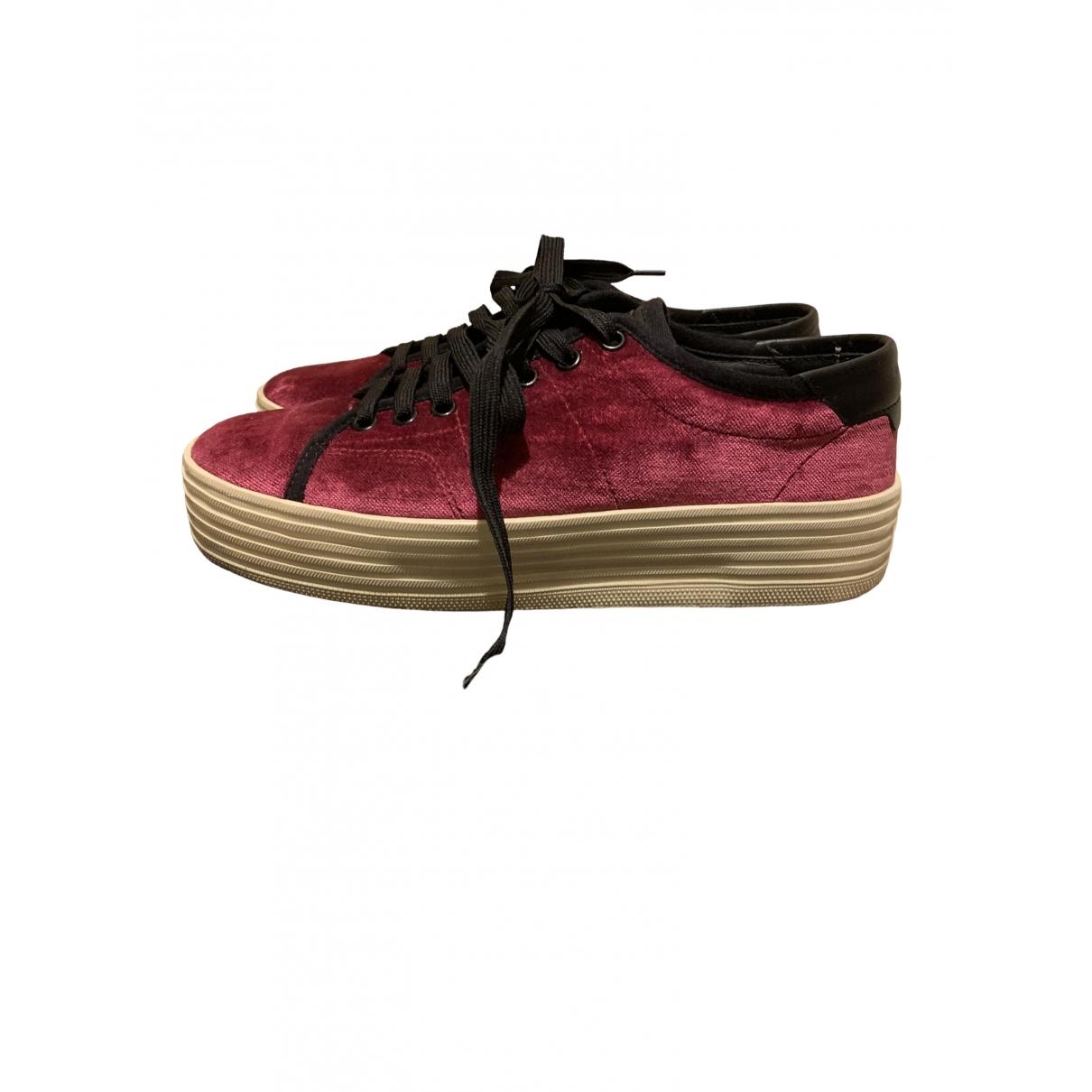 Saint Laurent \N Sneakers in  Rosa Samt
