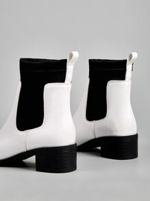 Point Toe Chunky Heeled Ankle Boots