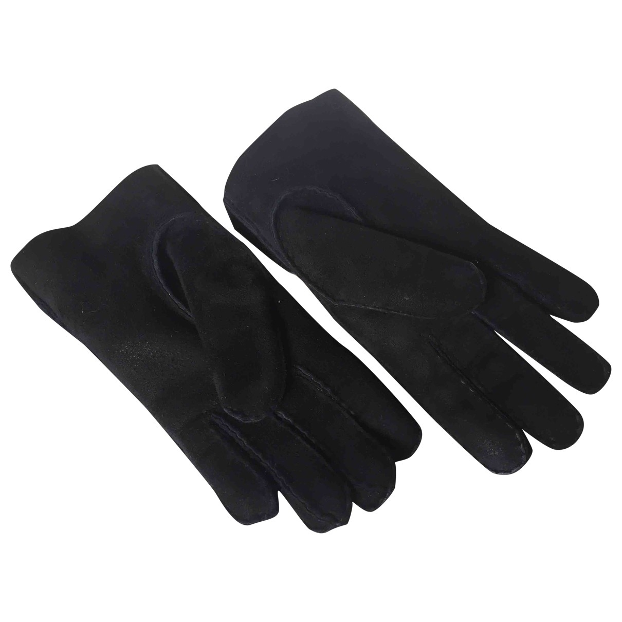 Ugg \N Black Suede Gloves for Women L International