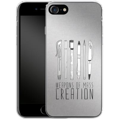 Apple iPhone 8 Silikon Handyhuelle - Weapons Of Mass Creation von Bianca Green