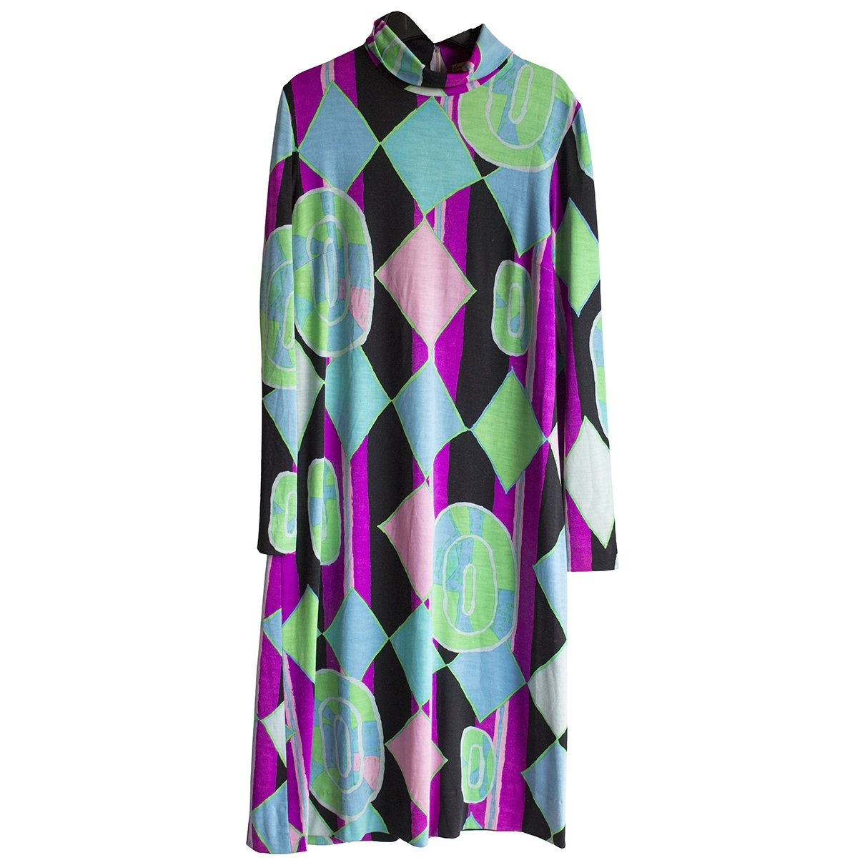 Non Signé / Unsigned \N Multicolour Wool dress for Women 14 UK