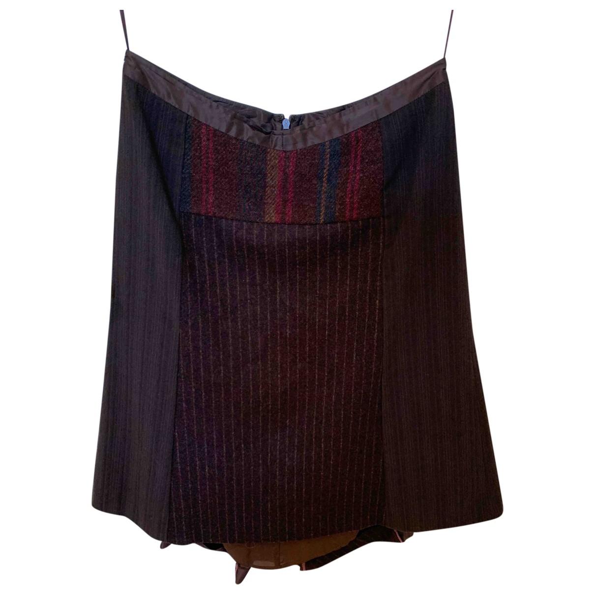 Etro - Jupe   pour femme en laine - marron