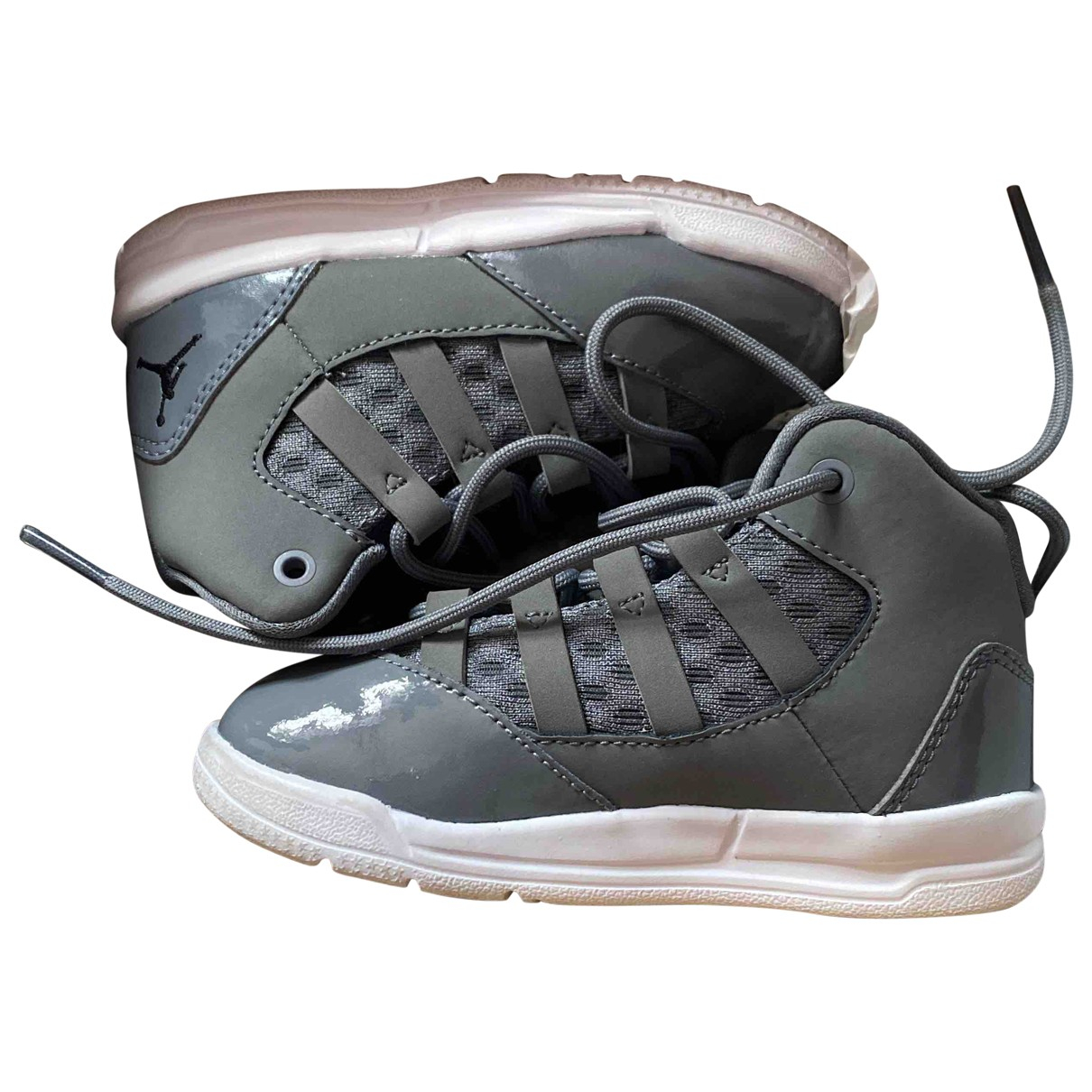 Jordan \N Grey Patent leather Trainers for Kids 6 UK