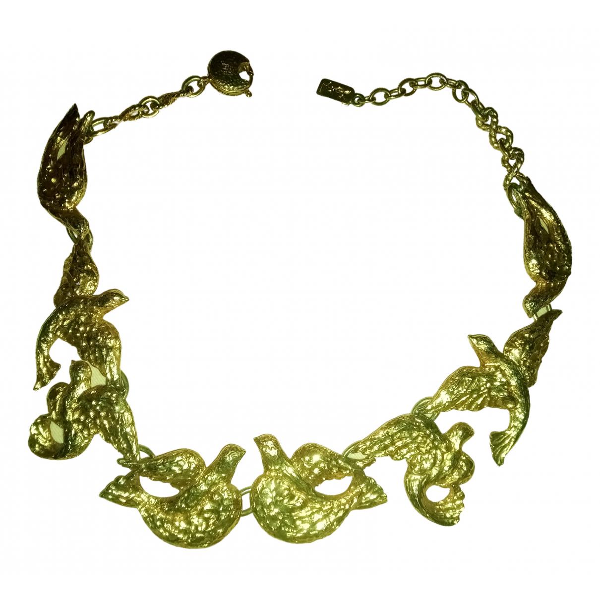 Yves Saint Laurent - Collier   pour femme en metal - dore
