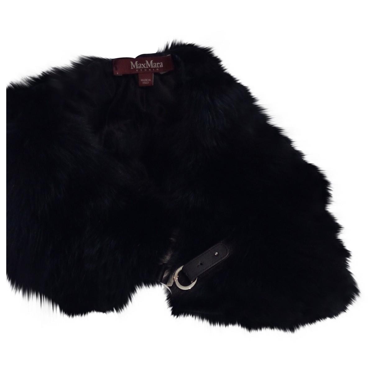 Max Mara Studio \N Black Fox scarf for Women \N