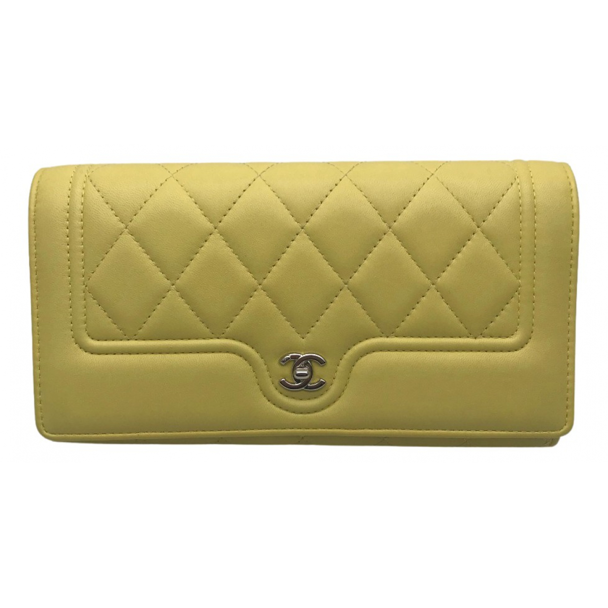 Chanel N Yellow Leather wallet for Women N