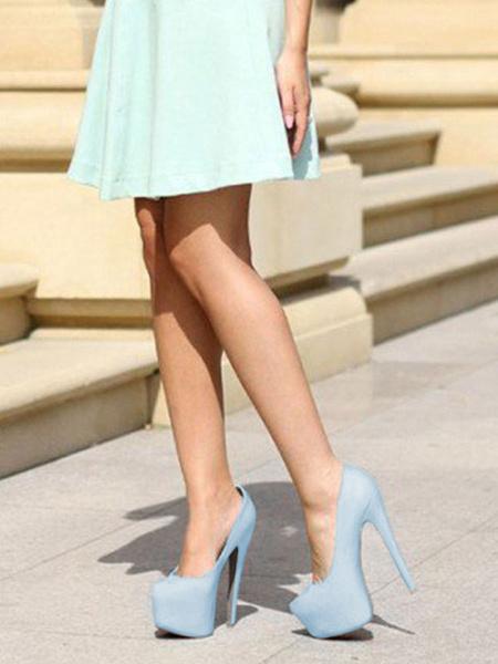 Milanoo Zapatos de vestir de tacon alto con tacones y plataforma de tacones para mujer