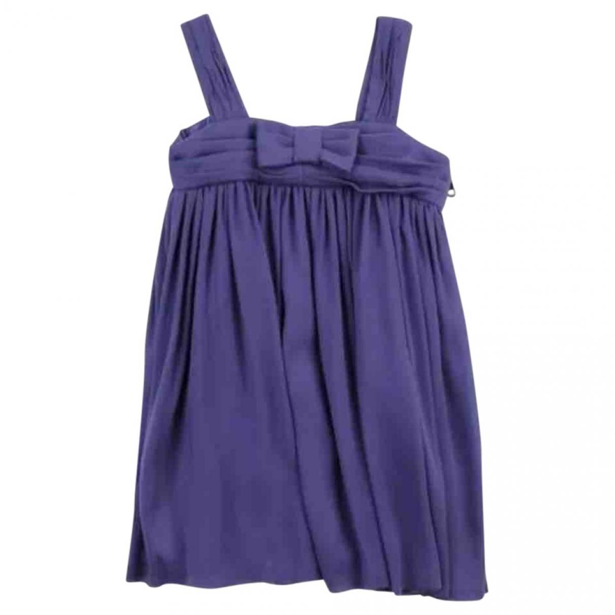 Burberry - Robe    pour enfant en soie - violet