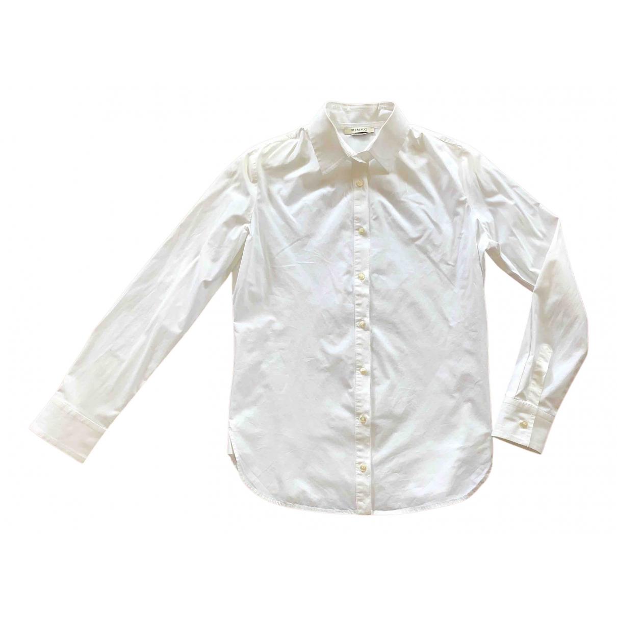 Pinko N White Cotton  top for Women 42 IT