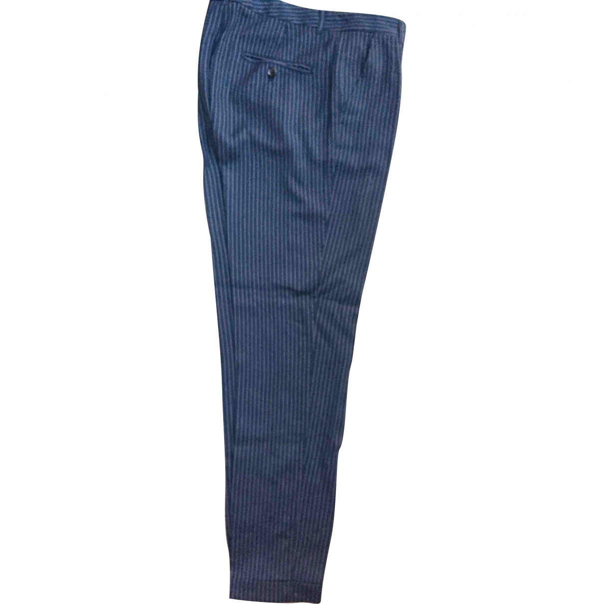 Dolce & Gabbana \N Blue Wool Trousers for Women 42 IT