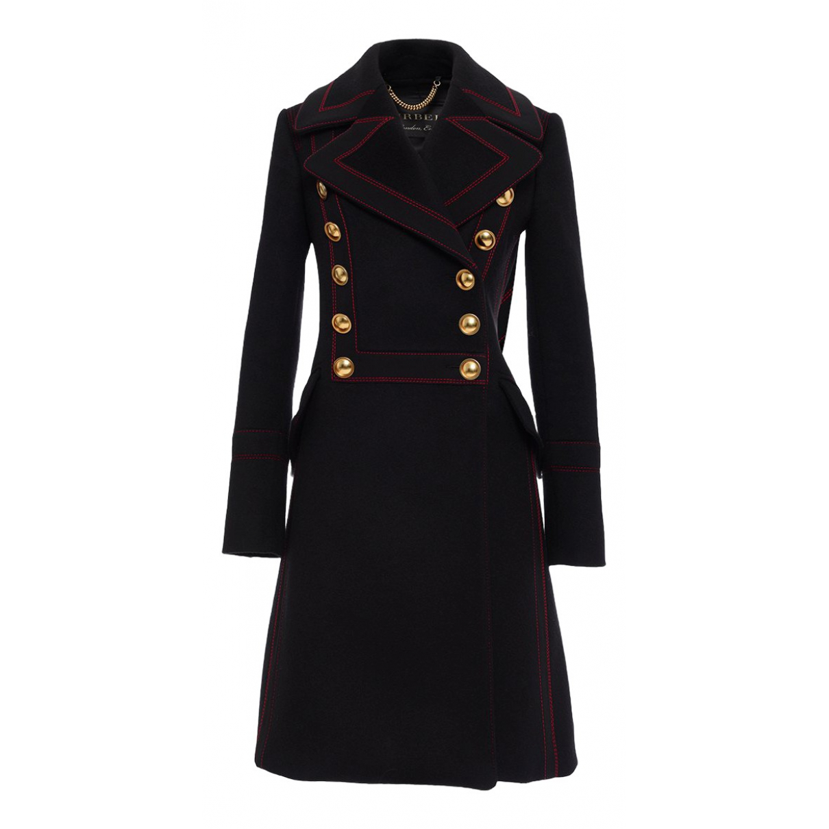 Burberry \N Black Cashmere coat for Women 38 IT