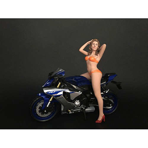 Hot Bike Model Cindy Figurine for 1/12 Scale Motorcycle Models by American Diorama