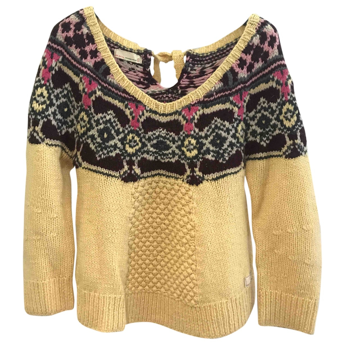 Non Signe / Unsigned \N Pullover in  Gelb Wolle