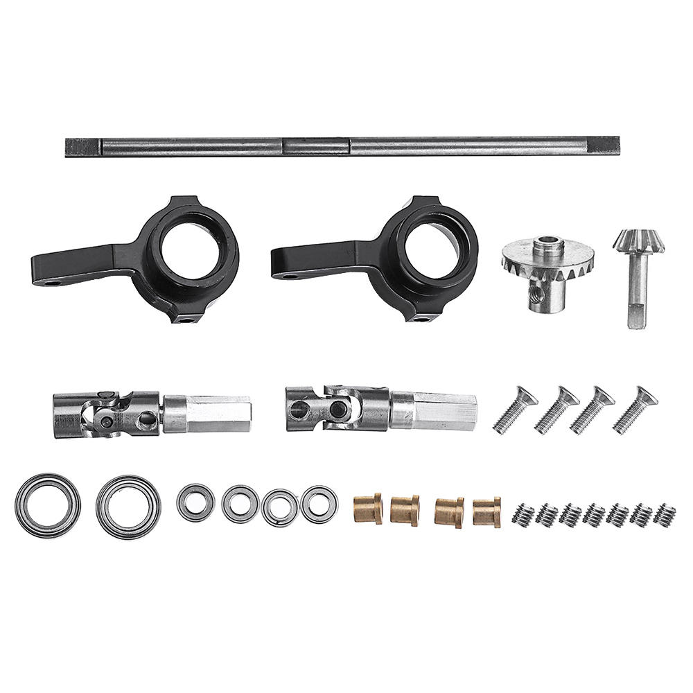 WPL Stainless Steel Gear Front Bridge Axle+Drive Shaft+Steering Cup For B14 B24 B36 C14 C24 RC Car