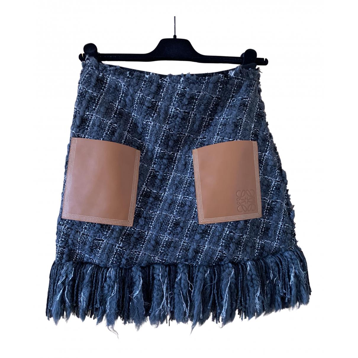 Loewe \N Rocke in  Blau Tweed