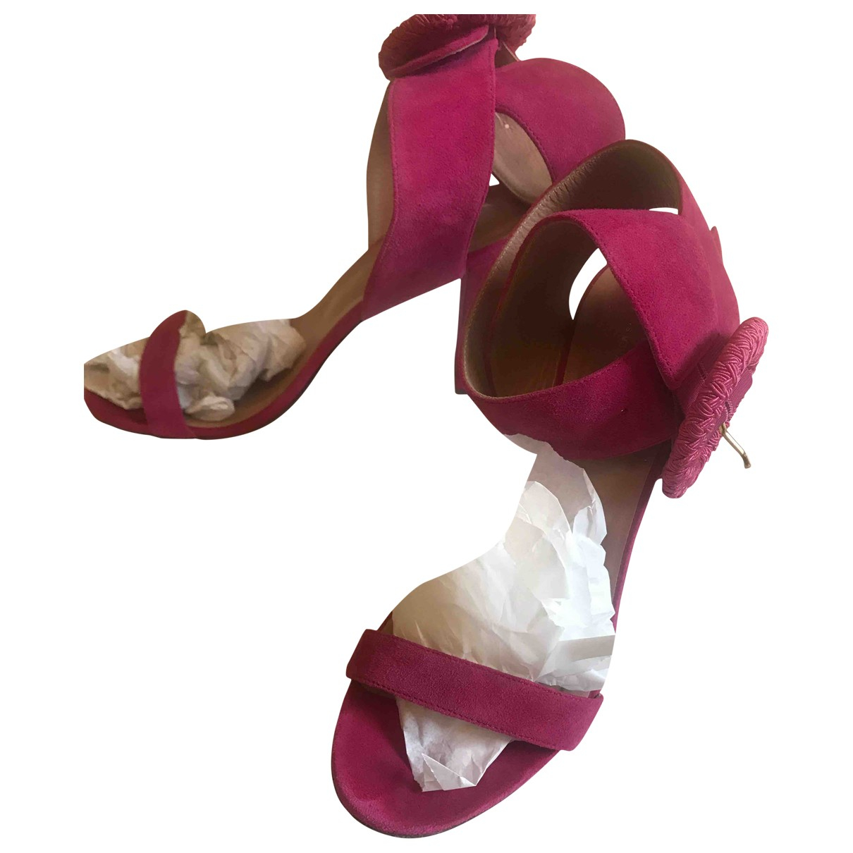Twin Set \N Pink Leather Sandals for Women 41 EU
