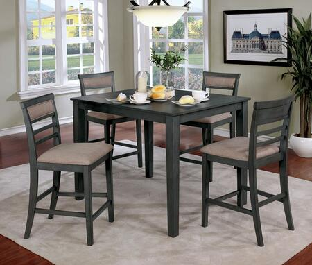 Fafnir Collection CM3607PT-5PK 5-Piece Counter Height Table Set in