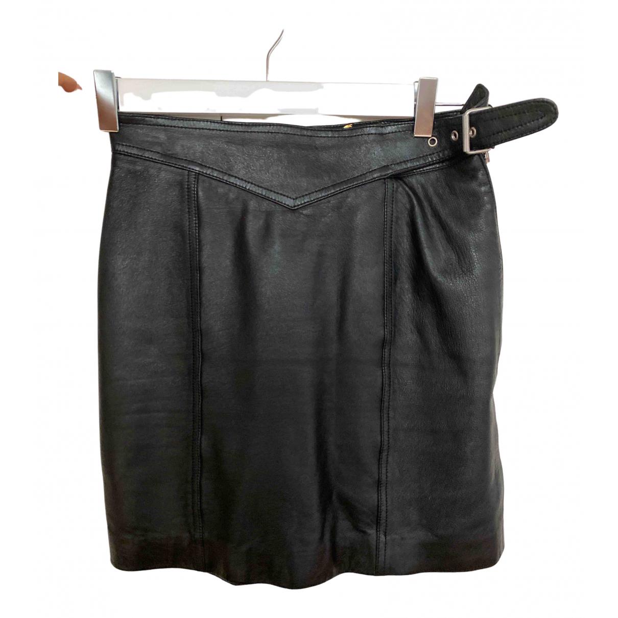 Yves Saint Laurent - Jupe   pour femme en cuir - noir