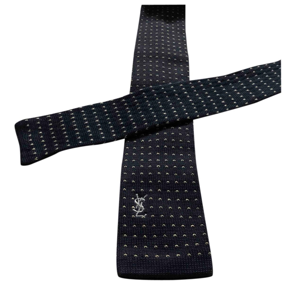 Yves Saint Laurent \N Krawatten in  Blau Baumwolle