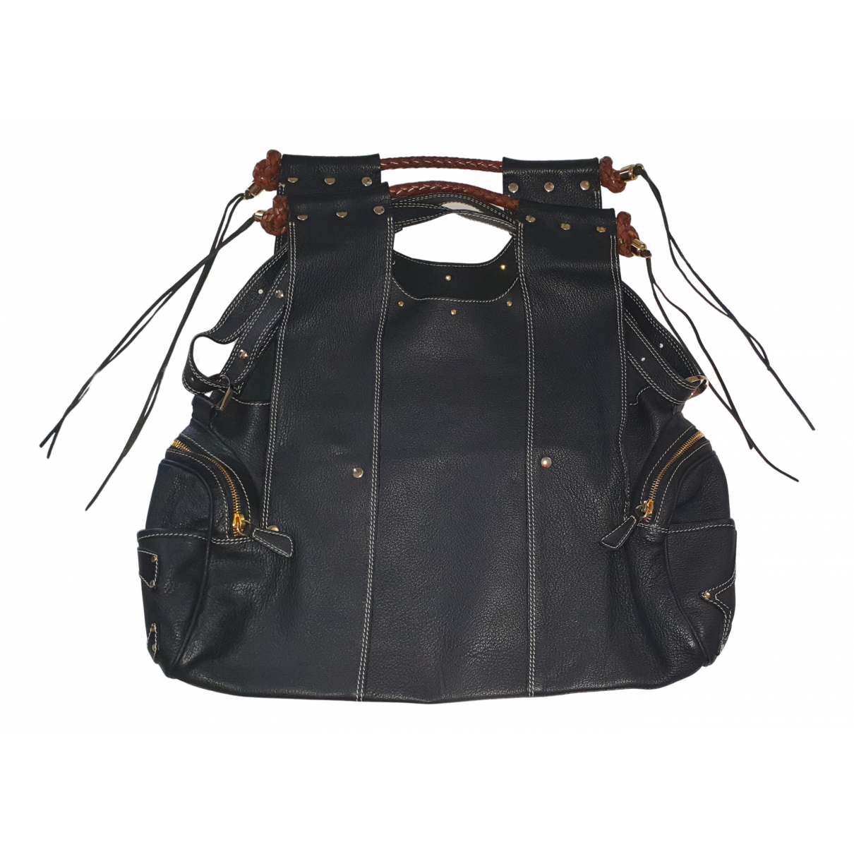 Corto Moltedo N Black Leather handbag for Women N