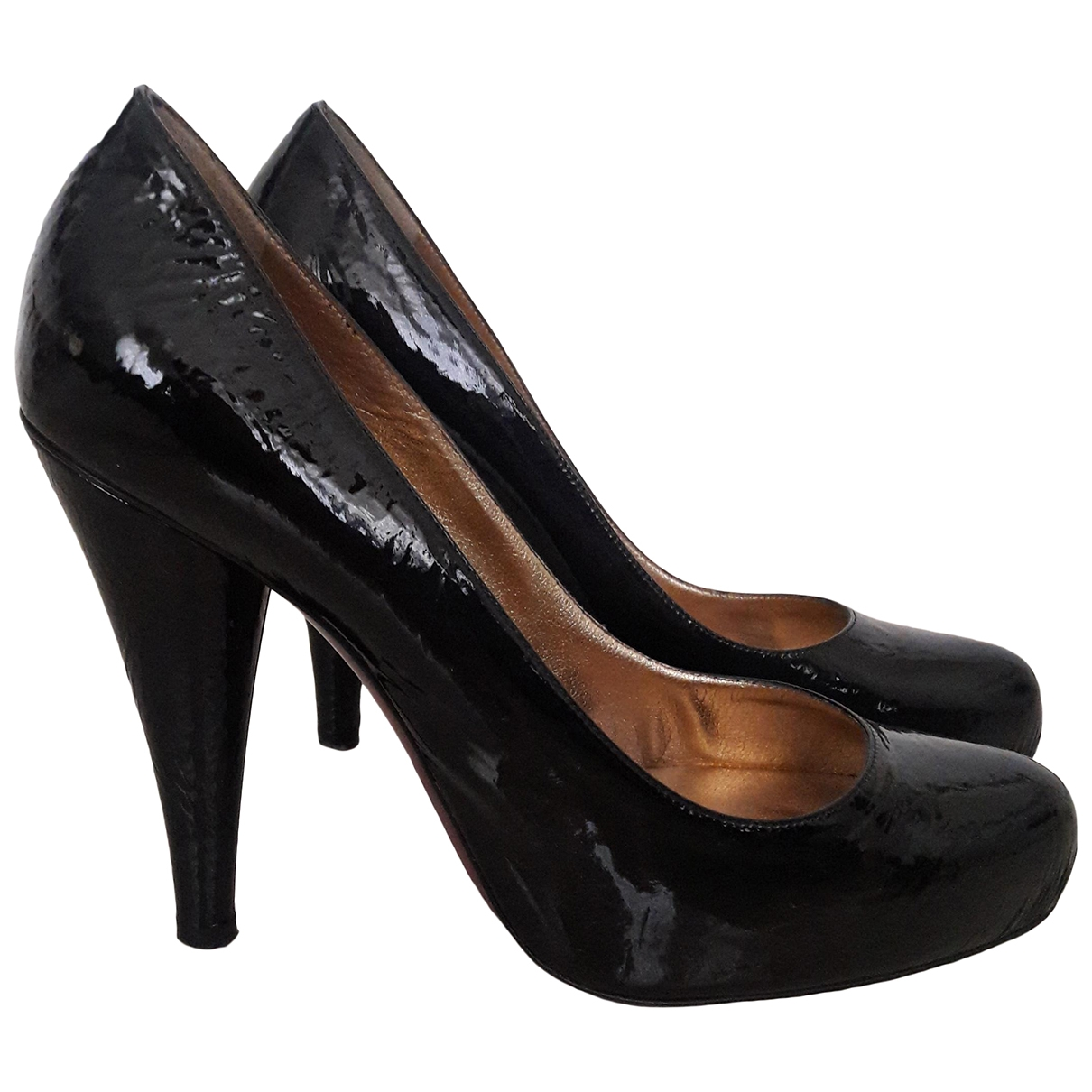 D&g \N Black Patent leather Heels for Women 38 EU
