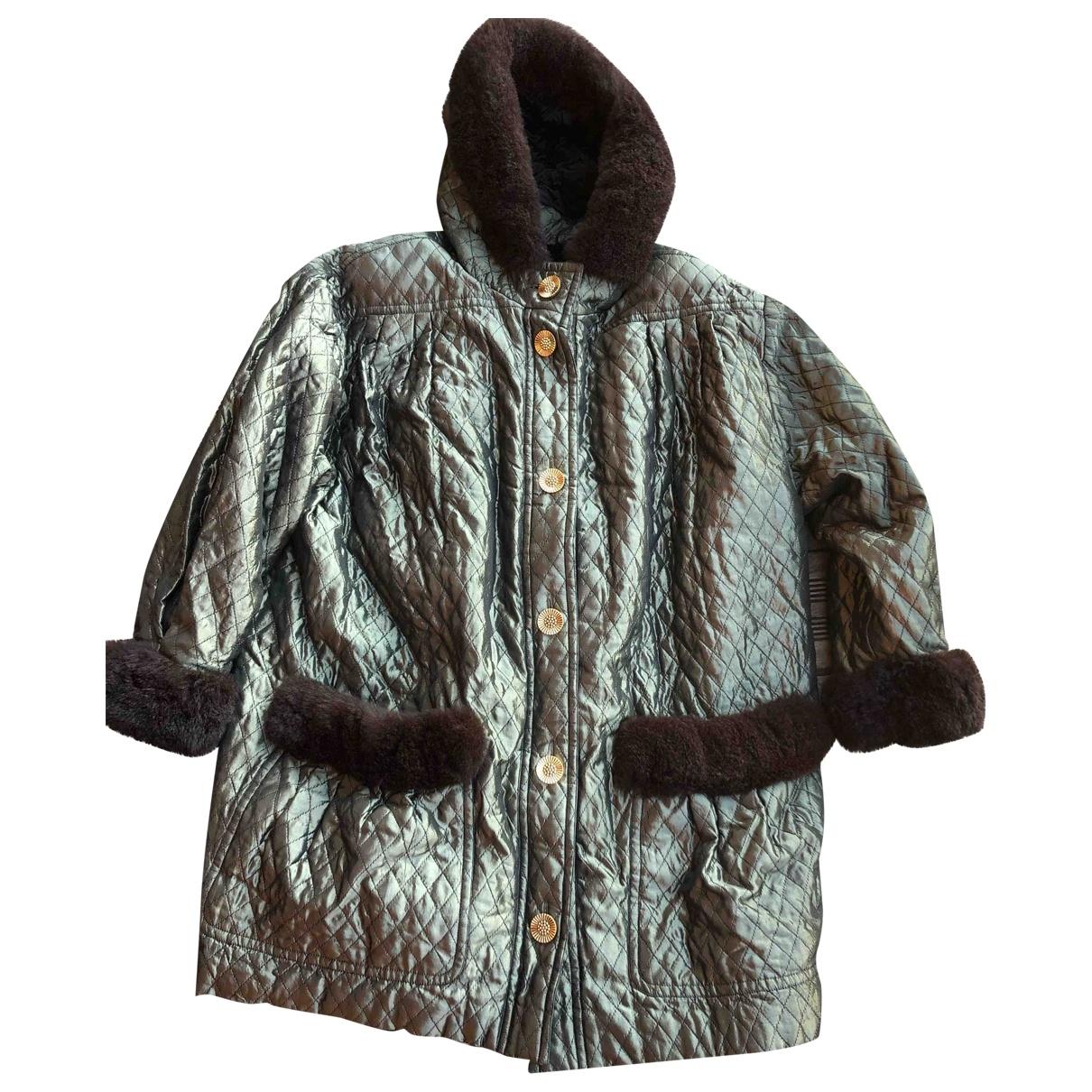 Yves Saint Laurent N Khaki coat for Women 40