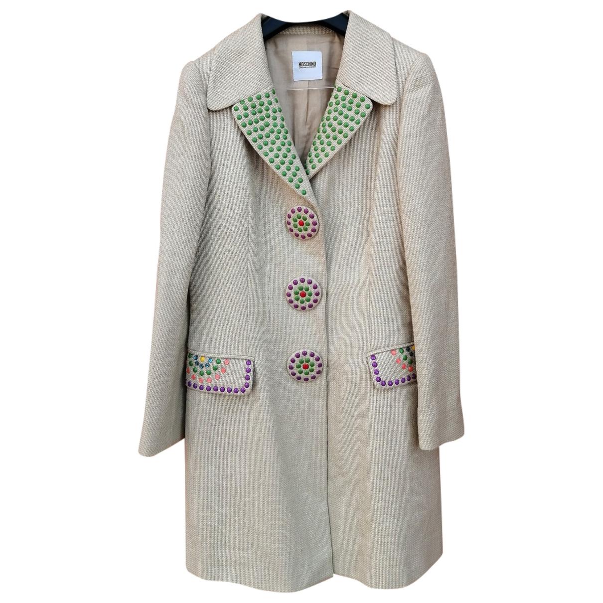 Moschino Cheap And Chic - Manteau   pour femme en coton - beige