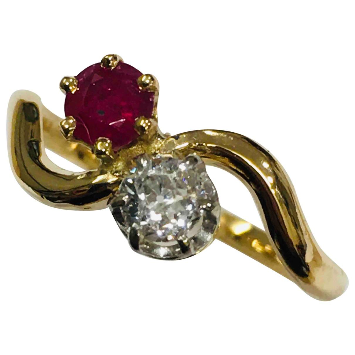- Bague Toi & Moi pour femme en or rose - rose