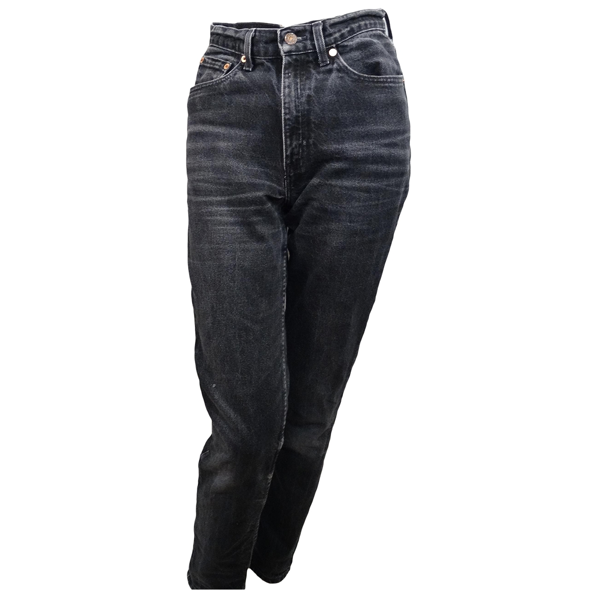 Levi's \N Grey Cotton Jeans for Women 26 US
