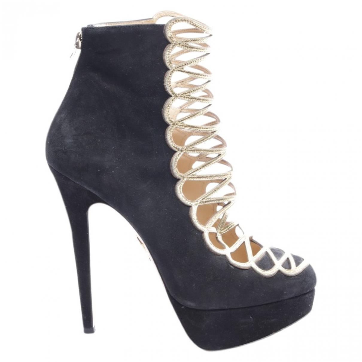 Charlotte Olympia - Boots   pour femme en cuir - noir