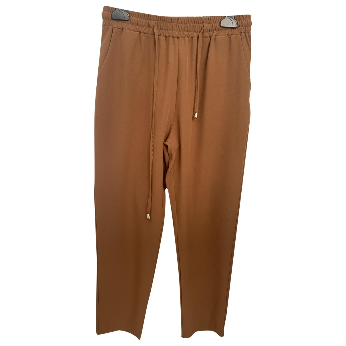 Non Signé / Unsigned \N Camel Trousers for Women S International