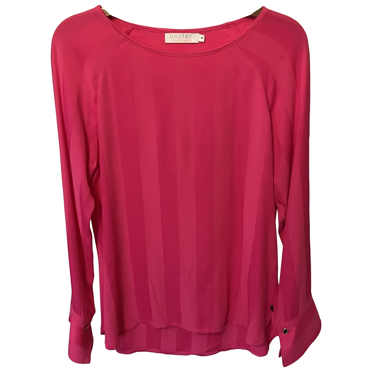 Non Signé / Unsigned \N Pink Cotton  top for Women 34 FR