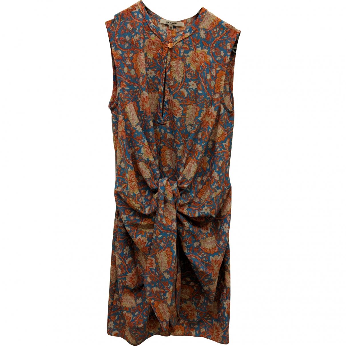 Carven \N Orange Silk dress for Women 34 FR