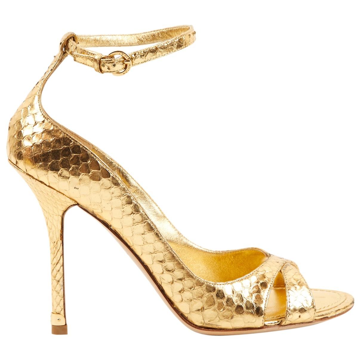 Louis Vuitton \N Gold Python Heels for Women 37 EU