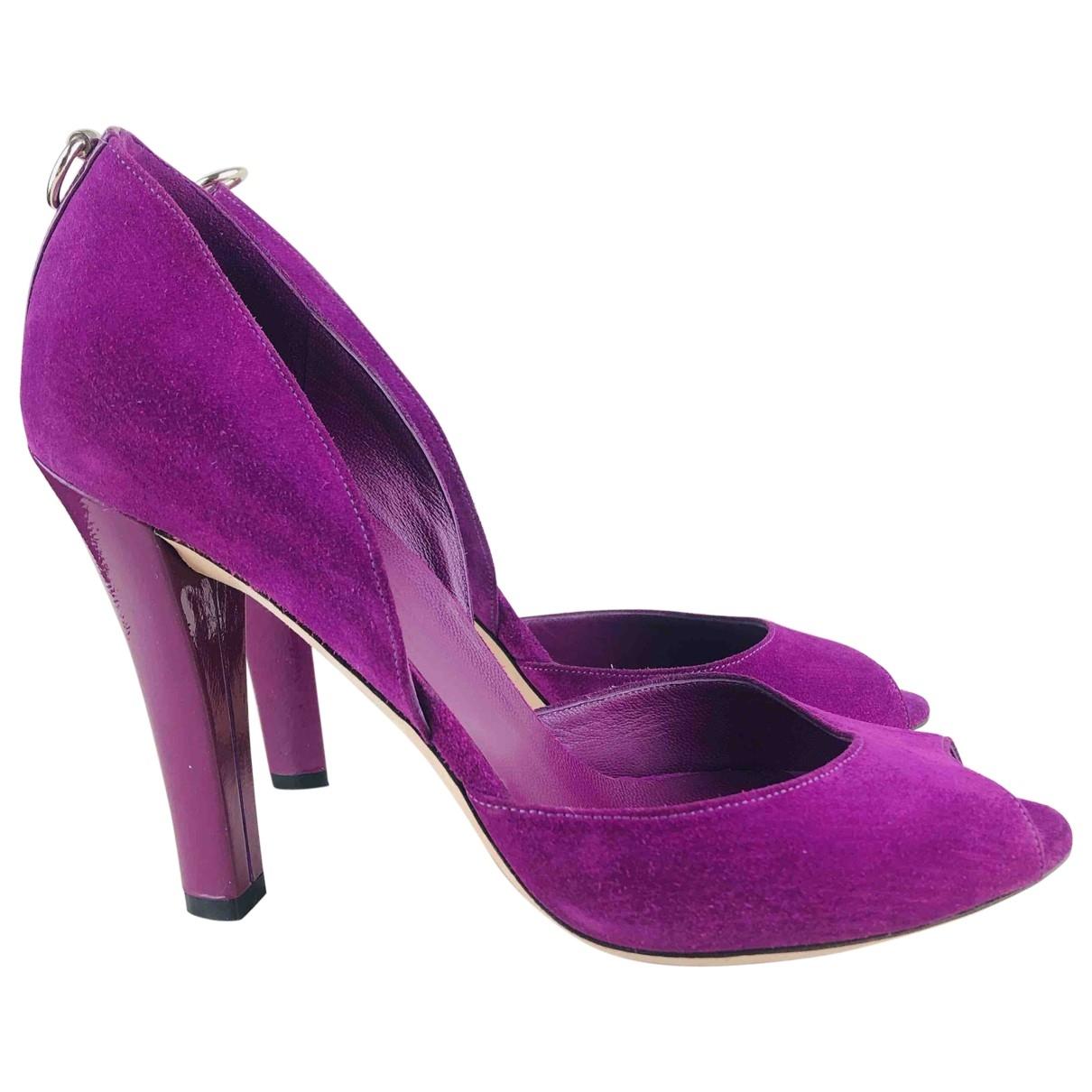 Gucci - Escarpins   pour femme en suede - violet