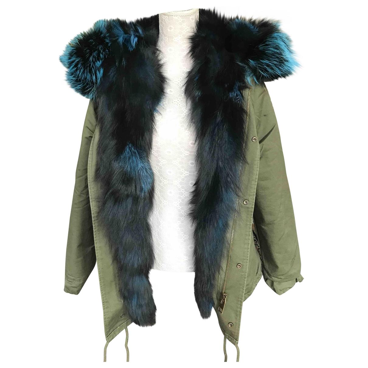 Non Signé / Unsigned \N Khaki Fox coat for Women S International