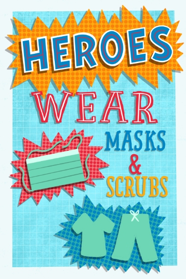 COVID-19 20x30 Poster(s), Board, Home Décor -Heroes
