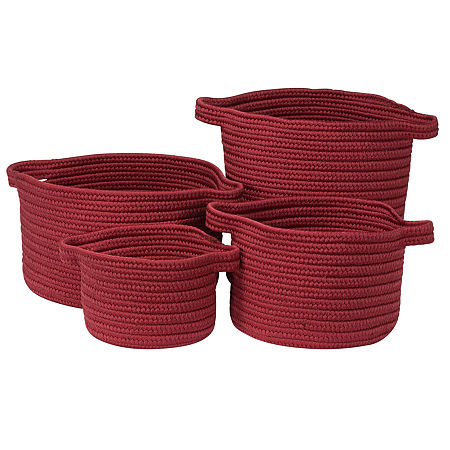 Colonial Mills Nantucket Solids Basket, One Size , Red
