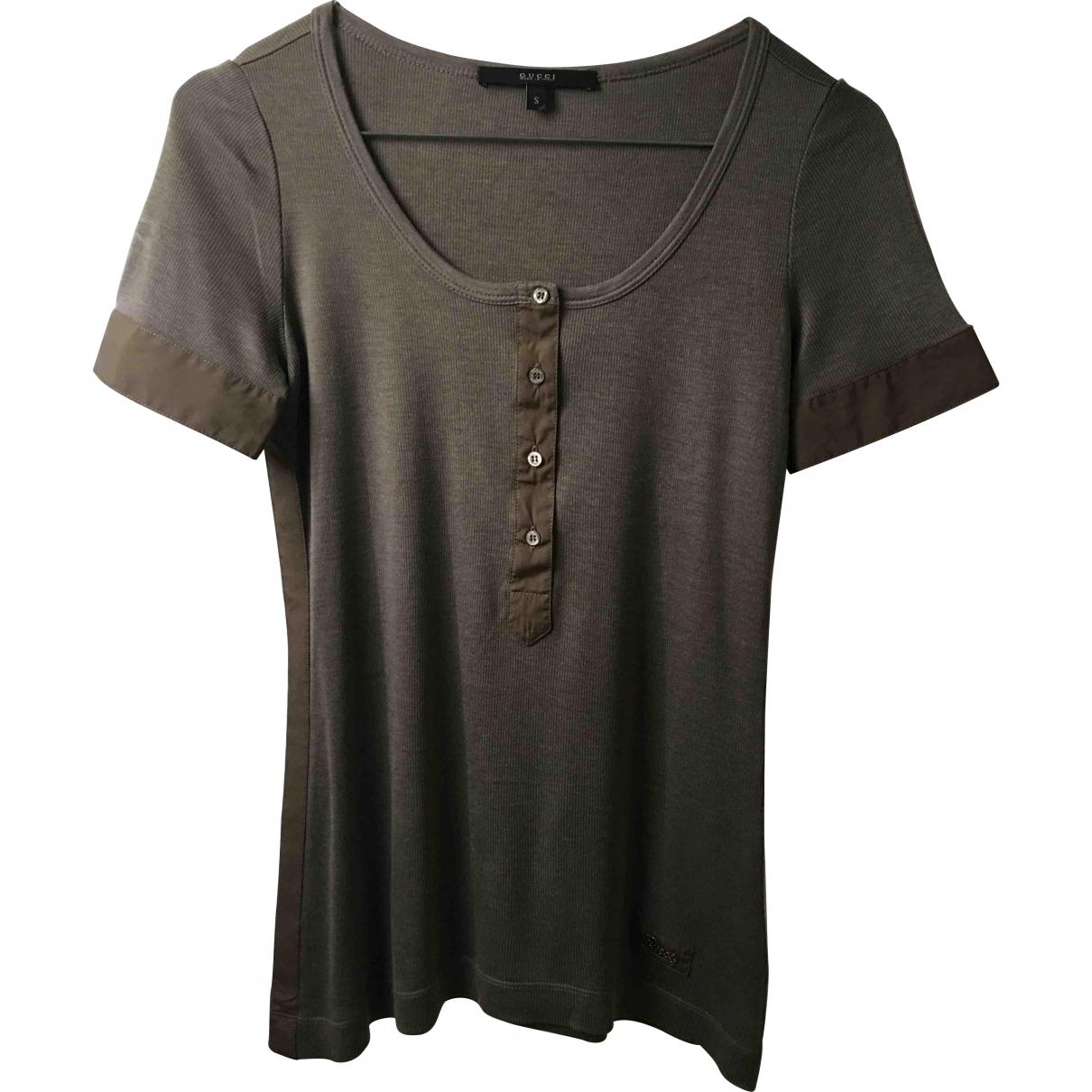Gucci \N Khaki Silk  top for Women S International