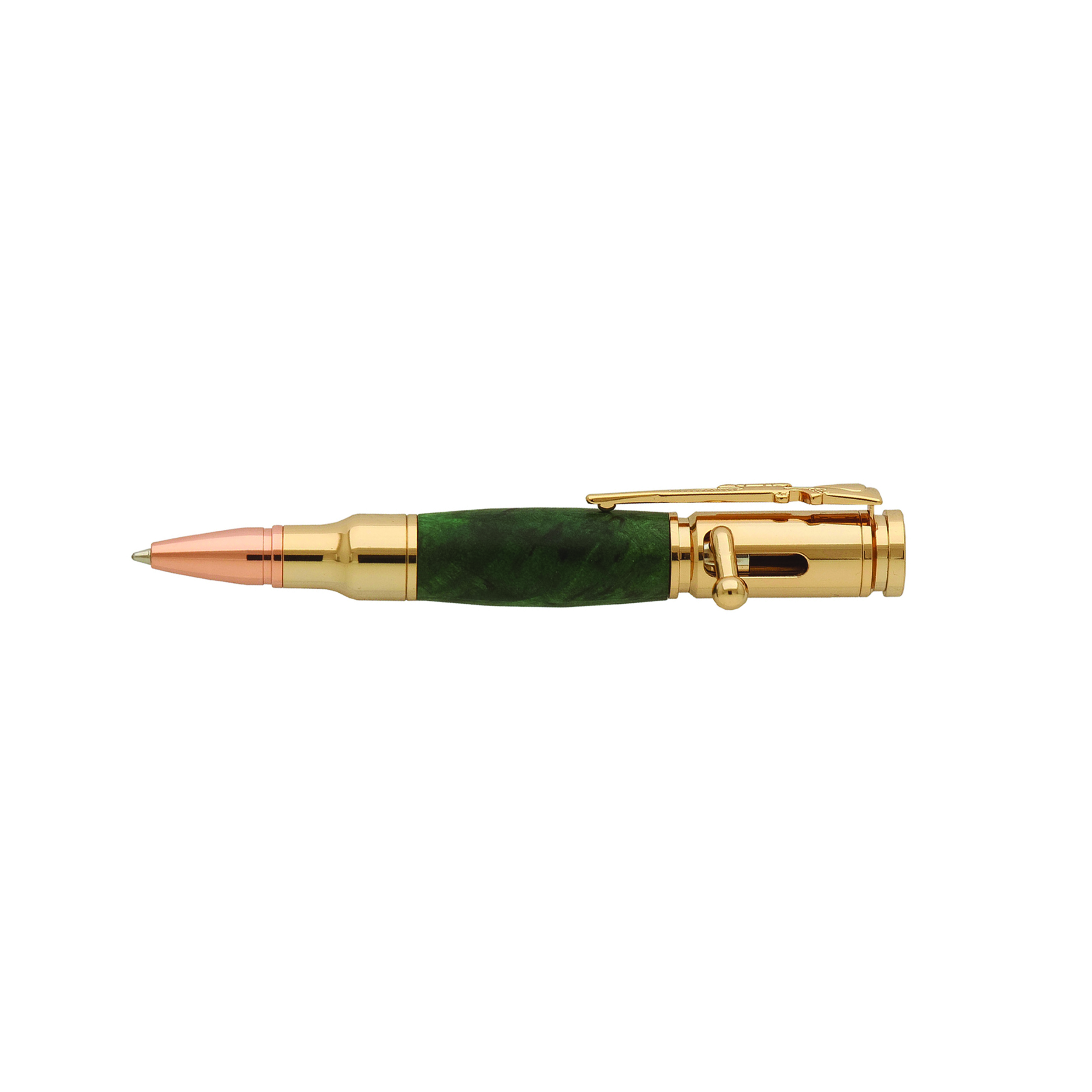 Mini Bolt Action 30 Caliber 24kt Gold Pen Kit PKCP8200